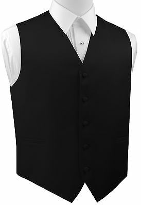 Men's XS - 6XL. Italian Design. Black Satin Formal, Wedding, Prom Tuxedo Vest