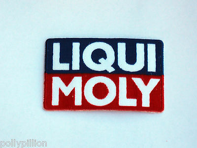 Motor Racing Rally Nascar Sew/iron On Patch:- Liqui Moly Blue & Red Block Logo