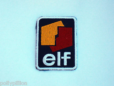 "Motor Racing Rally Nascar Sew/iron On Patch:- Elf Oils ""blue Square"" Logo"