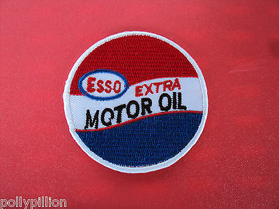 Motor Racing Rally Nascar Sew/iron On Patch:- Esso Extra Motor Oil