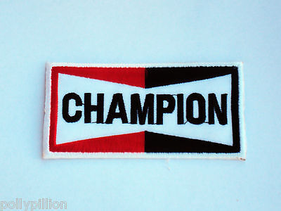 Motor Racing Rally Nascar Sew/iron On Patch:- Champion Spark Plugs