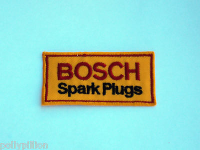 Motor Racing Rally Nascar Sew/iron On Patch:- Bosch Spark Plugs
