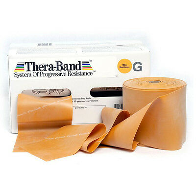 THERA-BAND ® 1,5 m gold Gymnastikband Original Theraband von der Rolle