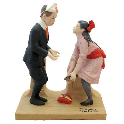 Norman Rockwell Figurine First Dance From The Danbury Mint 1980