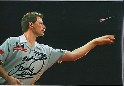 James WADE The MACHINE Signed 12x8 Autograph Photo AFTAL COA Darts Champion