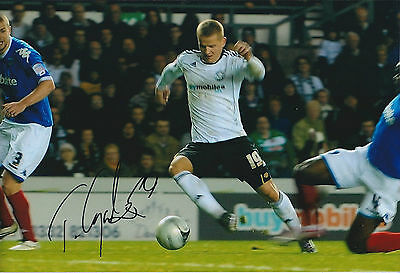 Tomasz CYWKA SIGNED 12x8 Photo AFTAL Autograph COA Derby County Authentic