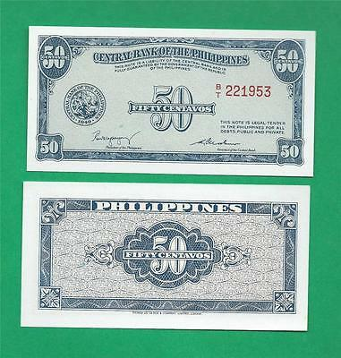 Philippines 1949 (Nd) 50 Centavo English Series Fractional Note P-131