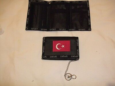 New  Turkey Sport Tri Fold Wallet with Safety Chain
