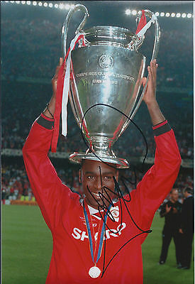 Andy COLE SIGNED Autograph Man Utd Photo AFTAL COA Champions League WINNER