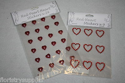 VALENTINES DAY heart stickers crafts bouquet cake gift pot flowers ideal etc...