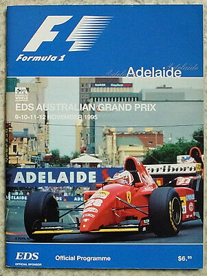 AUSTRALIAN GRAND PRIX FORMULA ONE F1 1995 ADELAIDE Official Programme