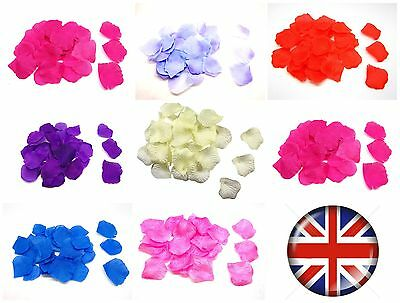 100 - 2000 Pcs Silk Fabric Rose Petals Wedding Scatter Confetti Table Decoration