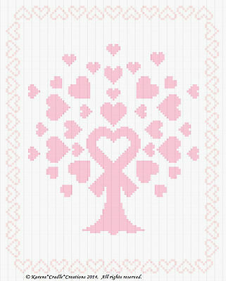 """Multiple Sclerosis Counted Cross Stitch Chart  8/"""" x 10/"""" MS AWARENESS BUTTERFLY"""