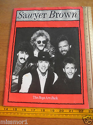 1989 Sawyer Brown concert tour program The Boys are Back