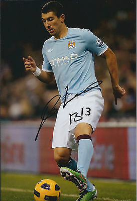 Aleksandar KOLAROV Signed Autograph 12x8 Photo AFTAL COA Man City SERBIA