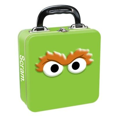 Sesame Street Oscar the Grouch Eyes Square Carry All Tin Tote Lunchbox, UNUSED