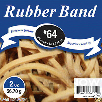 Natural Color 3 1/2 × 1/4 Inch Superior Elasticity Rubber Band