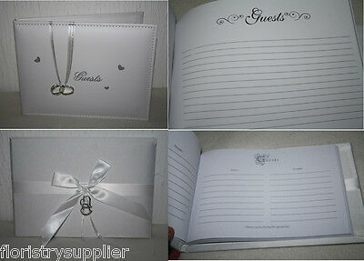 white or ivory wedding guest book wedding venue decoration gift idea choose