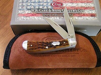 CASE XX New Tony Bose Antique Bone Handle 2 Bld Wharncliff Trapper Knife/Knives