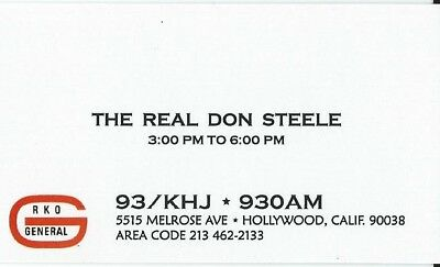 93/KHJ The Real Don Steele 1969 ~ Vol 001  Factory Pressed CD Mini LP +FREE CARD
