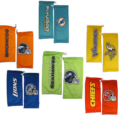 NFL Football Eyewear Microfiber Glasses Bag - Pick Team