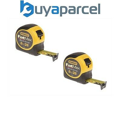 Stanley STA033726 FatMax Tape Measure Blade Armor 8m / 26ft 32mm - TWIN PACK x2