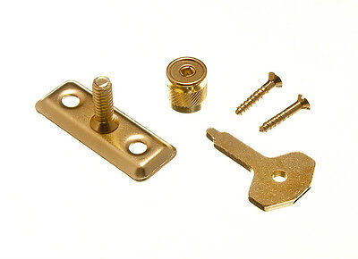 Qty Of 50 Window Casement Stay Pin Lock Brass + Key With Screws