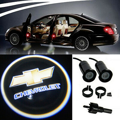 2 x Chevrolet Lamps LED Light Bulbs Projection Courtesy Lights Decorative Tuning