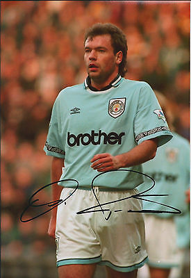 Uwe ROSLER SIGNED Autograph 12x8 Photo AFTAL COA Man City WIGAN Manager