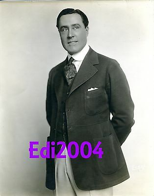 WILLIAM CONKLIN Vintage Original 1910's Photo by EVANS Double-Weight Rare Silent