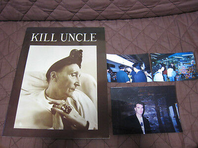 Morrissey 1991 Kill Uncle World Tour Book w 3 Photos in Japan Tour Smiths C86