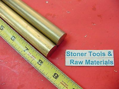 "2 Pieces 3/4"" C360 BRASS ROUND ROD 8"" long Solid .750"" New Lathe Bar Stock  H02"
