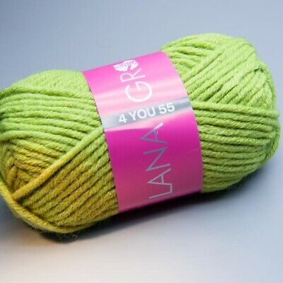 Lana Grossa 4 YOU 55 - 510 turtle green 50g Wolle (3.90 EUR pro 100 g)