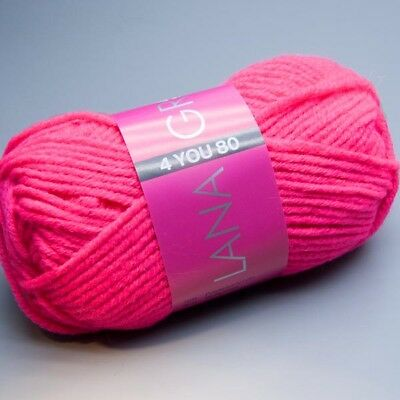 Lana Grossa 4 YOU 80 - 805 pink lightning 50g Wolle (3.90 EUR pro 100 g)