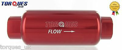 AN -10 (AN10 JIC -10 ORB-10) Red Anodised Billet Fuel Filter 10 Micron
