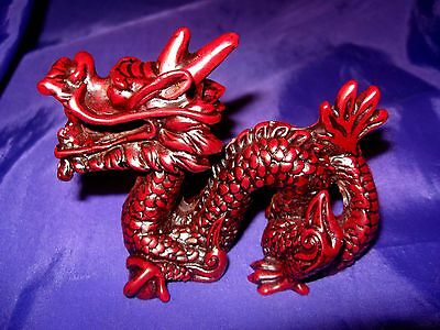 FSH098 Feng Shui Red Shoushan Imperial Dragon Small 11cm