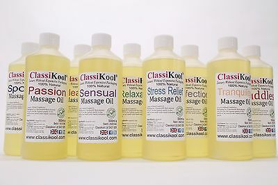 Classikool Massage Oils for Sports, Relaxation, Erotic Intimacy & Aromatherapy