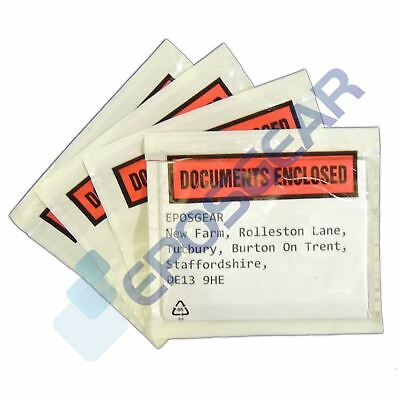 100 A7/C7 113mm x 100mm Printed Documents Enclosed Sticky Wallets Envelopes