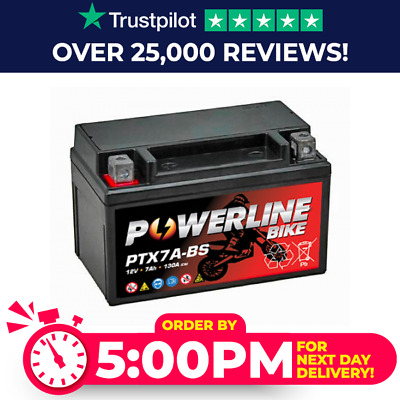 Battery Replaces YTX7A-BS 50615 12V 7Ah Kymco Stryker 125 2000-2006