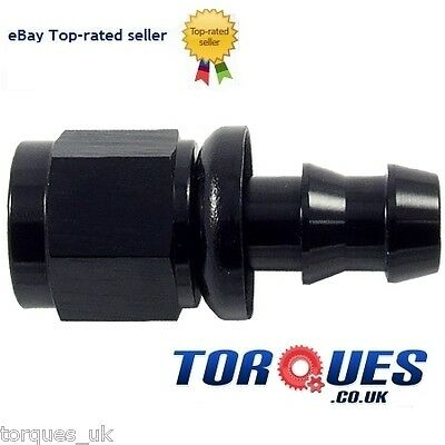 AN -4 (AN4 AN04) STRAIGHT Push-On Hose Fitting Black