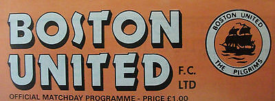 Boston United Away Programmes V Opponents A-K *Select from list*