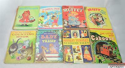 Lot of 8 LARGE Vintage Childrens' Books RAND McNALLY BIG GOLDEN BOOKS RANDOM HSE