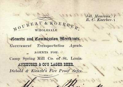 1876 Austin Texas Moureau & Koerber Anheuser & Co Brewing Lager Beer St Louis Mo