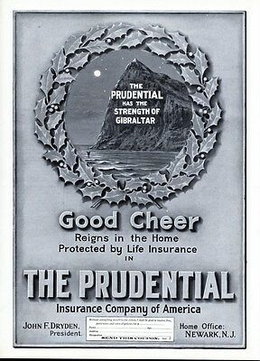 Prudential Life Insurance Company Of America Strength Of Gibralter Advertisement