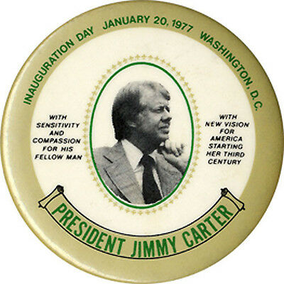 1977 Jimmy Carter NEW VISION Inauguration Button (2165)