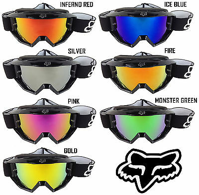 GOGGLE-SHOP MOTOCROSS MX LUNETTE DE PROTECTION CHROME LENTILLE MIROIR pour
