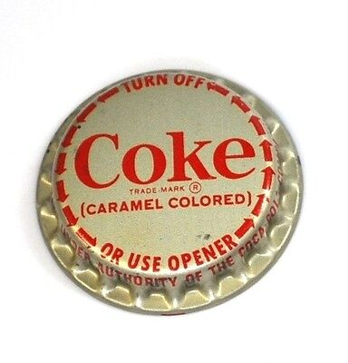 Coca-Cola Vintage Coke Kronkorken aufschraubbar USA 1970er Turn Off Bottle cap