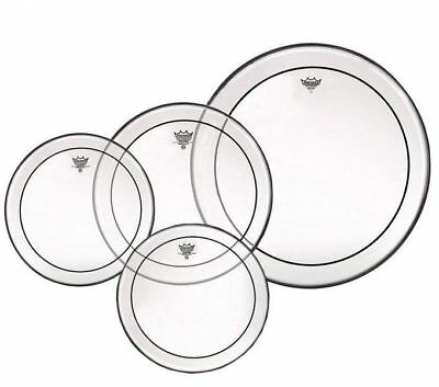Remo Pinstripe Clear Tom Drum Head Skin Set Includes 8, 10, 12, 14""