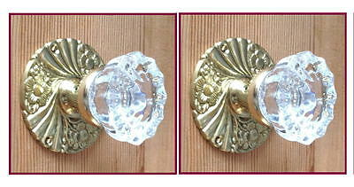 World Class Depression Crystal Custom Knob Sets-Solid Brass w/double set screws