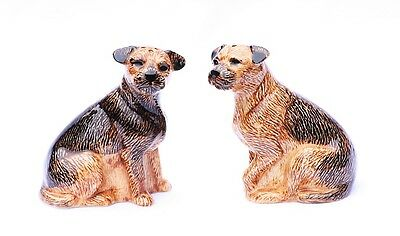 Border Terrier Salt And Pepper Set By Quail Pottery Hunting Hound Gift